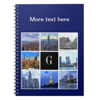 New York City Skyline 8 Image Photo Collage Notebook