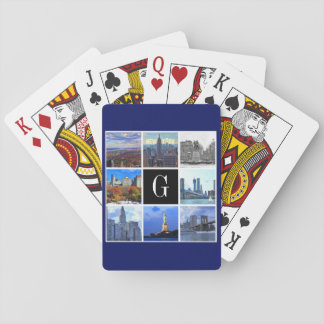 New York City Skyline 8 Image Photo Collage Deck Of Cards