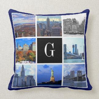 New York City Skyline 8 Image Photo Collage Pillow