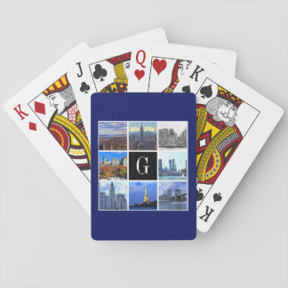 New York City Skyline 8 Image Photo Collage Playing Cards