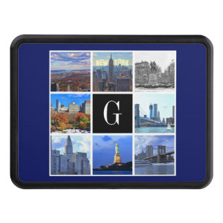 New York City Skyline 8 Image Photo Collage Tow Hitch Covers