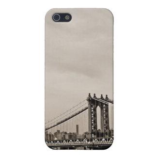 New York City Skyline and Manhattan Bridge Cover For iPhone SE/5/5s
