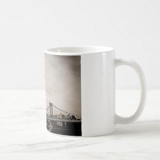 New York City Skyline and Manhattan Bridge Coffee Mugs
