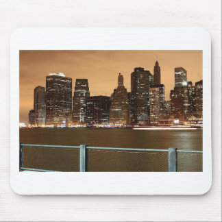 New York City Skyline at Night across the water Mousemats