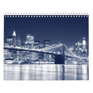 New York City Skyline At Night Calendar