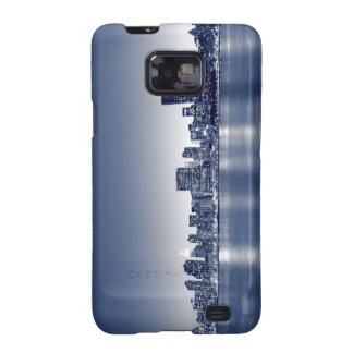 New York City skyline at Night Galaxy S2 Cases