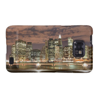 New York City skyline at Night Samsung Galaxy SII Cover