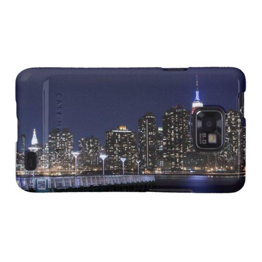 New York City skyline at Night Galaxy S2 Case