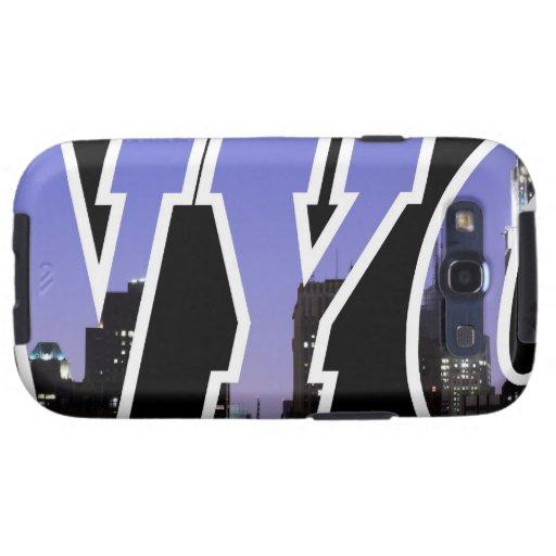 New York City skyline at Night Galaxy S3 Cover