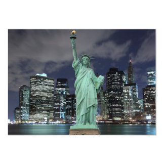 New York City skyline at Night Lights, Card