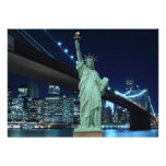 New York City skyline at Night Lights, Personalized Invitation