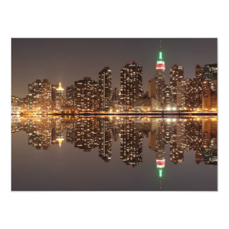 New York City skyline at Night Lights, Midtown Man Card