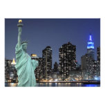 New York City skyline at Night Lights, Midtown Man Personalized Invite