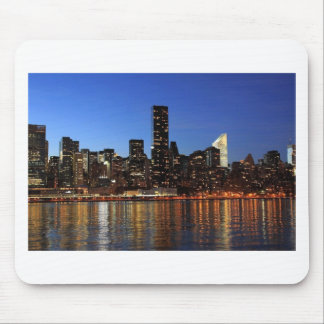 New York City Skyline at Night Mouse Mats