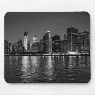 New York City Skyline at Night Mouse Pads