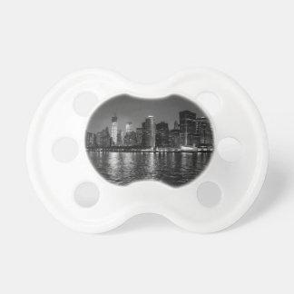 New York City Skyline at Night Baby Pacifiers