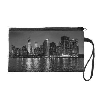New York City Skyline at Night Wristlet