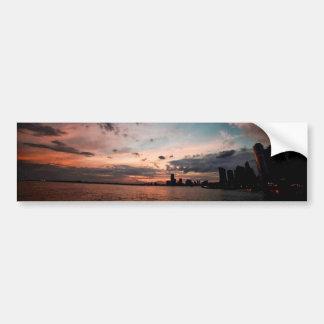 New York City Skyline at Sunset Bumper Sticker