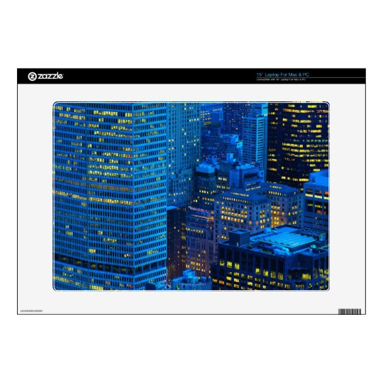 "New York City Skyline at Sunset Decals For 15"" Laptops"