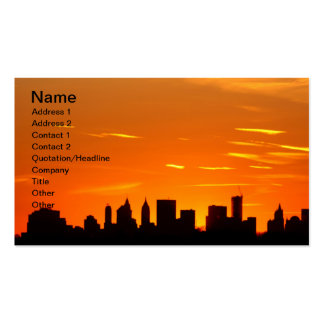 New York City Skyline at Sunset , Lower Manhattan Double-Sided Standard Business Cards (Pack Of 100)