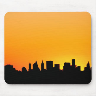 New York City Skyline at Sunset , Manhattan Mouse Pad