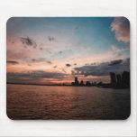 New York City Skyline at Sunset Mousepads