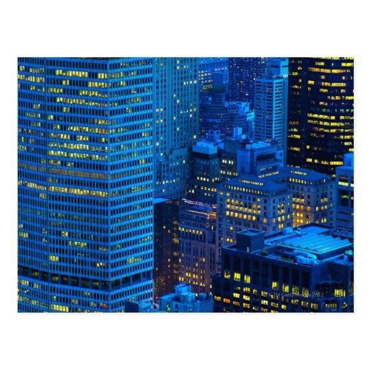 New York City Skyline at Sunset Postcard