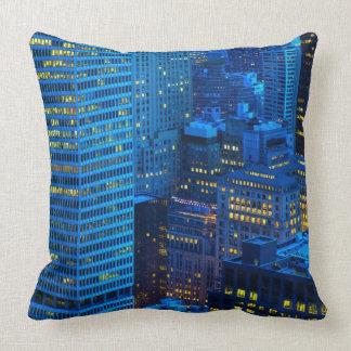 New York City Skyline at Sunset Throw Pillow