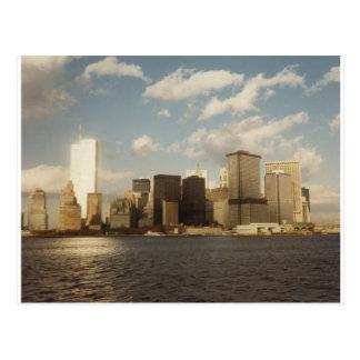 New York City Skyline before 9/11 Twin Towers Postcard