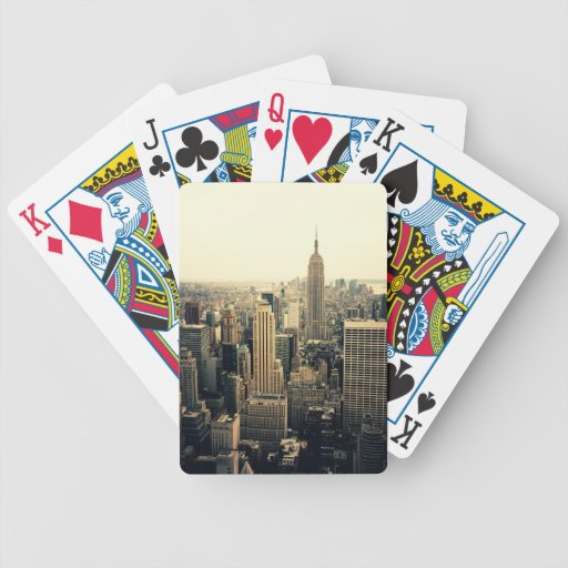 New York City Skyline Bicycle Playing Cards Zazzle