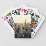 New York City Skyline Bicycle Poker Cards