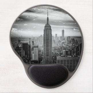 New York City skyline black and white Gel Mouse Pad