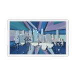 New York City Skyline | Blue 3D Acrylic Tray