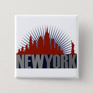 New York City Skyline Button