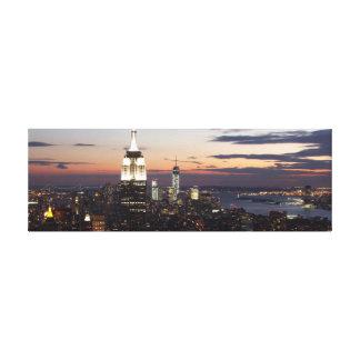 New York City Skyline Gallery Wrap Canvas
