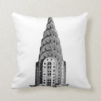 New York City Skyline: Chrysler Building Dome Pillow