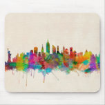 New York City Skyline Cityscape Mouse Pad