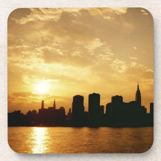 New York City Skyline Decorative Coaster - Sunset