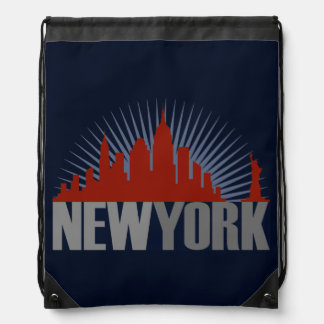 New York City Skyline Drawstring Bag