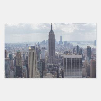 New York City Skyline Empire State Building NYC Rectangular Sticker