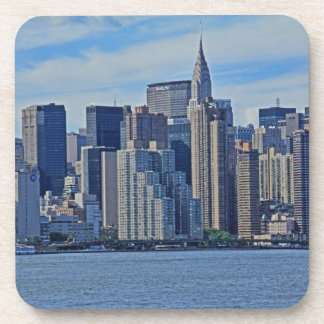 New York City Skyline From the East River A1 Beverage Coaster