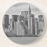 New York City Skyline From the East River B&W Coasters