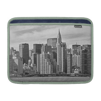 New York City Skyline From the East River B&W MacBook Air Sleeve