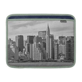 New York City Skyline From the East River B&W MacBook Air Sleeve
