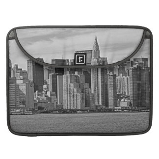 New York City Skyline From the East River B&W Sleeves For MacBooks