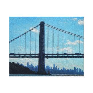 New York City skyline, George Washington Bridge Canvas Prints