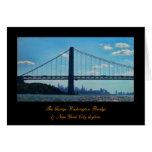 New York City skyline, George Washington Bridge Greeting Card