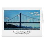 New York City skyline, George Washington Bridge Cards