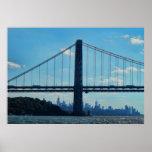 New York City skyline, George Washington Bridge Posters