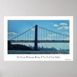 New York City skyline, George Washington Bridge Poster